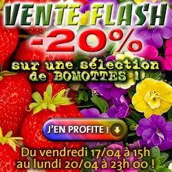 -20% sur une sélection de BOMOTTES POTAGÈRES & FLORALES !