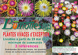 Couverture catalogue BOMOTTES VIVACES printemps 2015