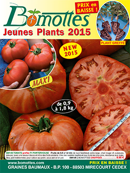 Couverture catalogue BOMOTTES printemps 2015